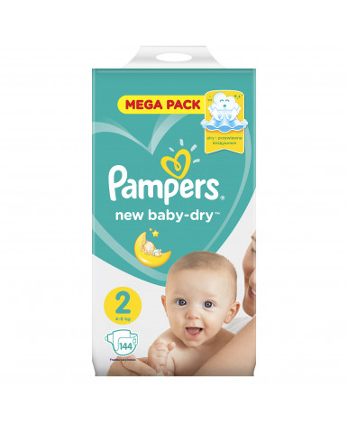 Подгузники Pampers New Baby 2 (3-6кг) 144шт