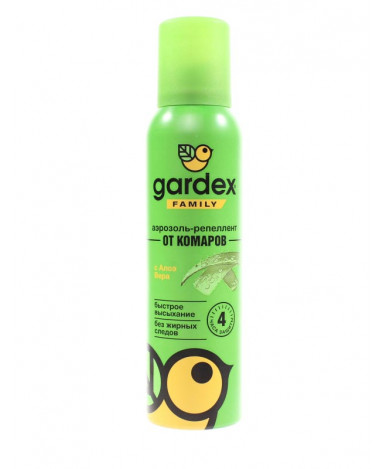 Аэрозоль-репеллент от комаров Gardex Family с алоэ вера 150мл