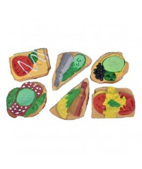 Набор Бутербродов-1 из Пвх пластизоля из 6 предметов