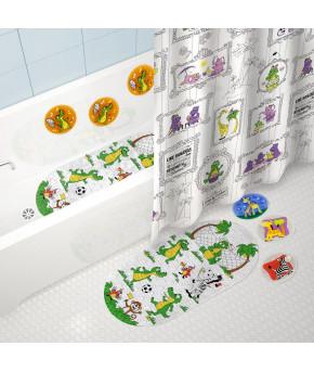 Коврик для ванны Valliant Крокодильчики 69х39см