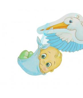 Гирлянда С рождением малыша объемная