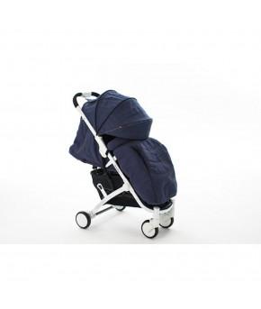 Прогулочная коляска BabyZz D200 джинс на белой раме