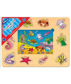 """Игра из дерева """"Веселое лото. Подводный мир"""""""