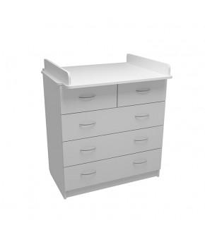 Комод Фа-Мебель Маргаритка 5 белый