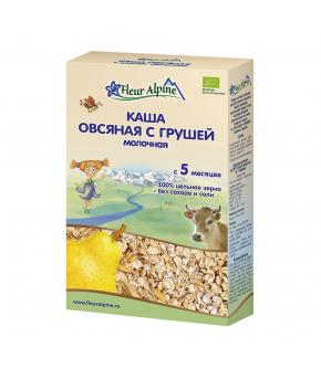 "Каша ""Fleur Alpine"" Organic овсяная с грушей молочная, 200гр"