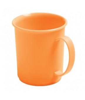 Кружка Пластишка 180мл. детская с декором оранжевый