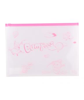 """Папка на молнии А4 """"Bumpees"""" (33х25см, застежка-zip, пластик, прозрачная)"""