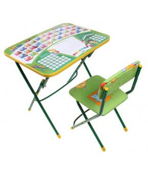 Мебельный комплект Nika Kids Первоклашка зелёный