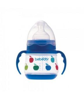 Бутылочка Bebe D'or c ручками с силиконовой соской 150мл