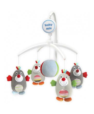 Каруселька BabyMix Кротики с плюшевыми игрушками