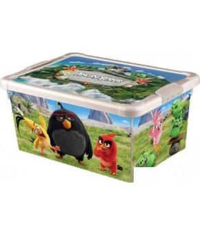 "Ящик ""Пластишка"" универсальный ""Angry Birds"" 335х240х155 мм"