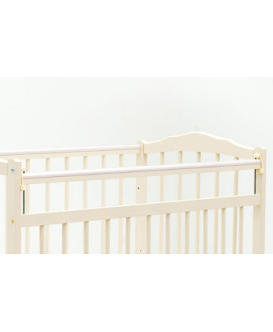 Кровать детская Bambini Classic 09, белый/розовый