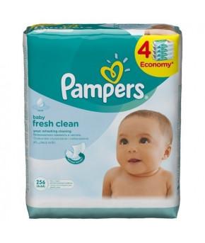 """Салфетки влажные """"Pampers"""" Baby Fresh Clean Quatro 4х64шт"""
