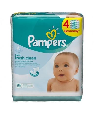 Салфетки влажные Pampers Baby Fresh Clean Quatro 4х64 шт