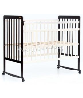 Кровать детская Bambini Euro Style 03, венге (тем. орех)/слоновая кость