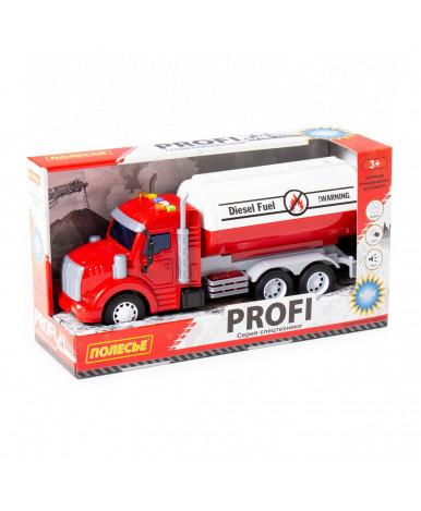 Автомобиль с цистерной инерционный Полесье Профи со светом и звуком красный (в коробке)