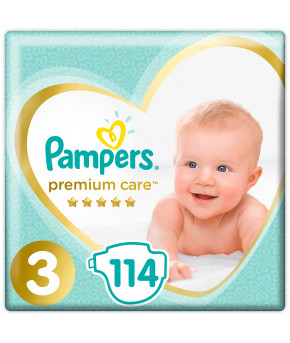 Подгузники Pampers Premium Care 3 (6-10кг) 114шт