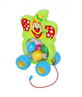 Игрушка-каталка Полесье на шнурке Бимбосфера - Клоун