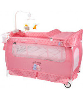 Манеж Lorelli Sleep N Dream Green Pink Hippo