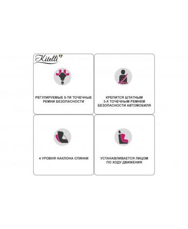 Автокресло Kitelli Grand (экокожа+ткань)/серый