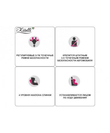 Автокресло Kitelli Profi (экокожа+ткань)/серый (9-25кг)