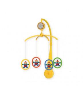 Каруселька BabyMix Клоуны с пластиковыми игрушками