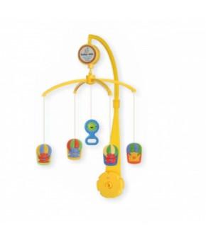 Каруселька BabyMix Мишутки на воздушном шаре с пластиковыми игрушками
