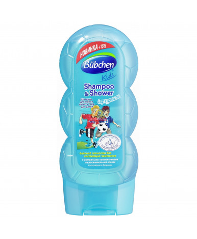 """Шампунь для мытья """"Bubchen""""волос и тела для детей """"Спорт и удовольствие"""" (новая формула), 230мл"""