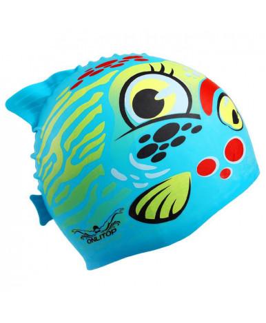 Шапочка для плавания детская Рыбка, силикон, цвета микс