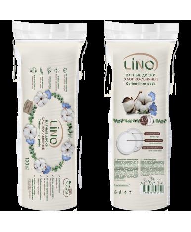 Диски ватные Lino хлопко-льняные 100шт