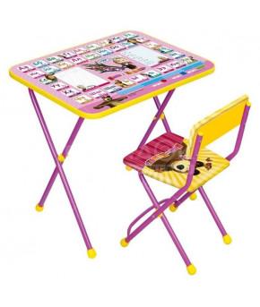 Мебельный комплект Nika Kids Познайка Азбука 3: Маша и медведь
