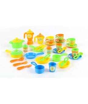Набор детской посуды Полесье (50 элементов) (в коробке)