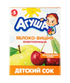 Сок Агуша яблоко и вишня 200мл
