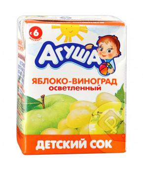 Сок Агуша яблоко и виноград 200 мл