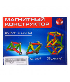 Конструктор магнитный Magical Magnet 36 деталей