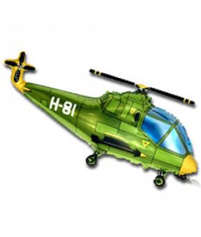 """Шар """"Вертолет"""" зеленый (14х36см)"""