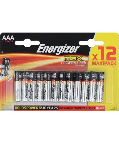 Батарейки Energizer Alkaline MAX ААА-LR03, 8+4