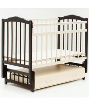 Кровать детская Bambini Classic 10, темный орех/слоновая кость