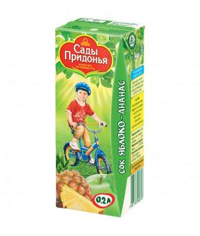 Сок Сады Придонья яблоко ананас 200мл