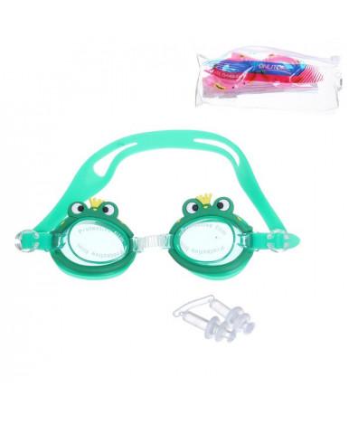 Очки для плавания + беруши Детские SS30 силикон 581627