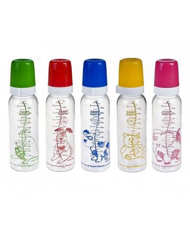 Бутылочка Canpol пластиковая силиконовая соска круглая быстрый поток 250мл