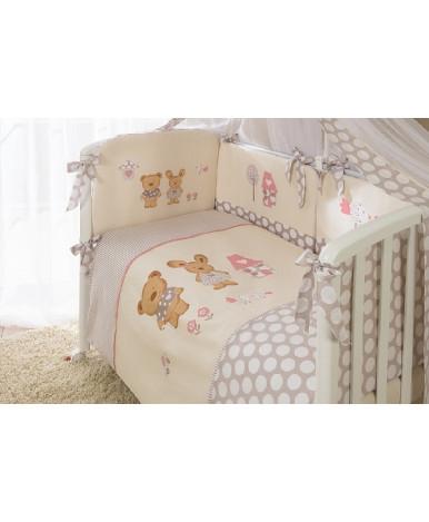 Комплект в кроватку Perina Венеция лапушки бежевый 7пр