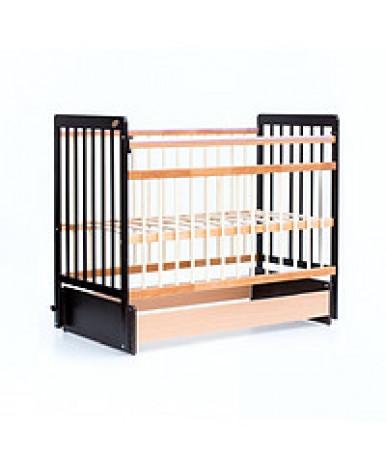 Кровать детская Bambini Euro Style 05, венге (тем. орех)/натуральный