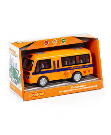 Автобус инерционный Полесье Школьный со светом и звуком