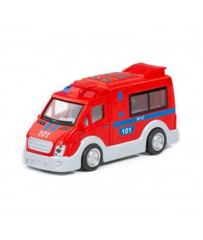 Автомобиль-пожарная инерционный Полесье МЧС (со светом и звуком) (в коробке)