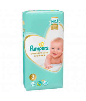 Подгузники Pampers Premium Care 3 (6-10кг) 52шт