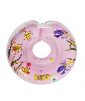 Круг на шею Кейджи 0-24 мес. цветы розовый