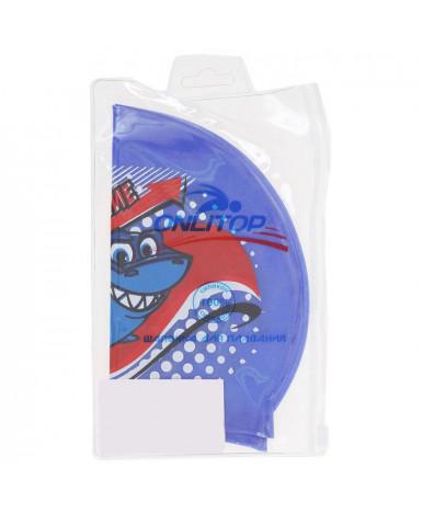 Шапочка для плавания детская Акула, силикон