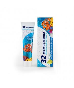 """Зубная паста """"32 жемчужины"""" яблоко, 3-6 лет, 60г."""
