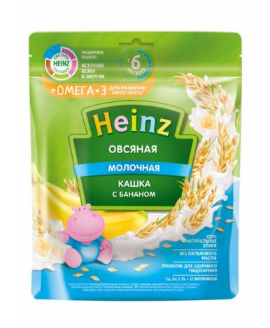 Каша Heinz овсяная банан с омегой молочная мягкая упаковка 200г